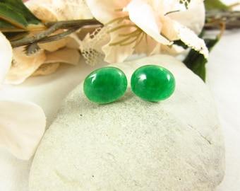 Green Aventurine Earrings/Stud Earrings/Sterling Earrings/Handmade Earrings/Aventurine Jewelry/Modern Jewelry/Simple Earrings/Small Earrings
