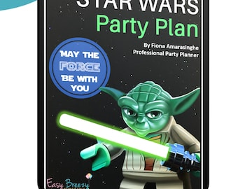 STAR WARS Complete Party Plan - Decoration, party food, games, Jedi Academy, printables set - Instant digital download