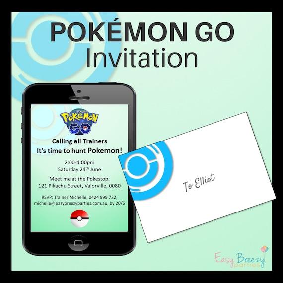 POKEMON GO Party Invitation - Editable file - Printable