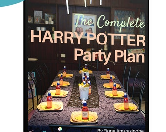 Harry Potter COMPLETE PARTY PLAN - One-stop guide to decoration, potions class, food, printables, everything! - Instant digital download