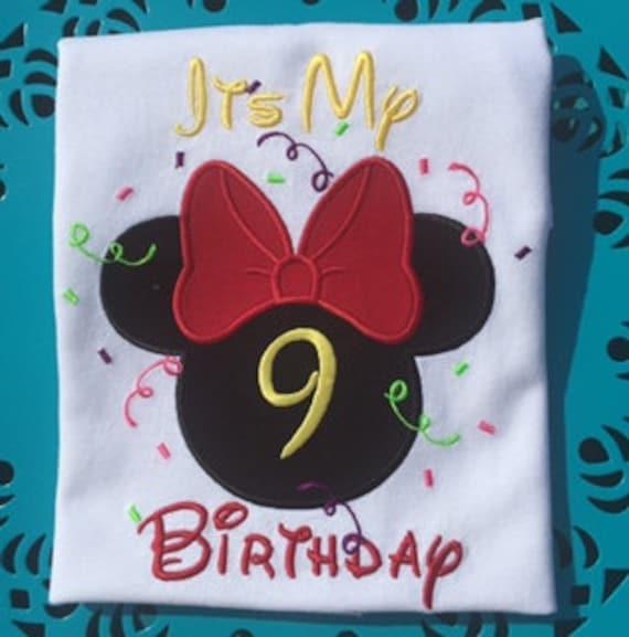 Disney Family Shirts Birthday Shirt Minnie