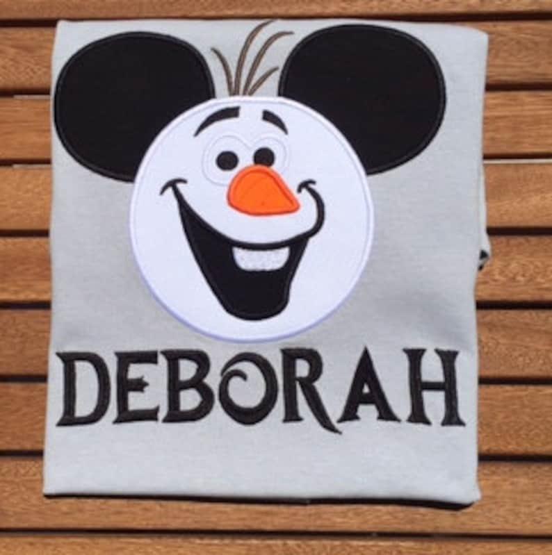 d25fed303 Disney Family ShirtMickey Head Olaf Shirt Disney World Olaf | Etsy