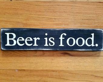 Beer is food. Sign
