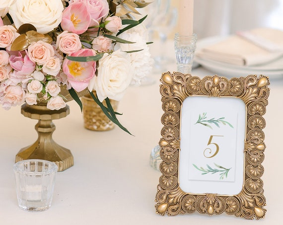 "Small table numbers, 2x3 inch, very small table number printable PDF, Numbers 1-54, ""Greenery"", Download and Print"