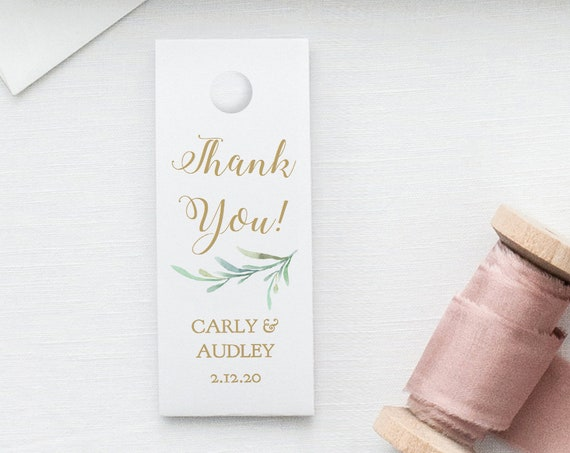 "Small Favour Tags 2.5x1"" Thank You Tag Printable Template Wedding Favor, Wedding Tags, Greenery, Editable PDF"