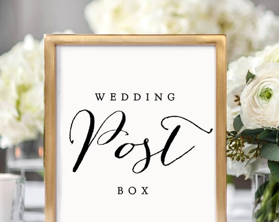 Wedding Post Box printable sign, 8x10, 8.5x11 and A4 wedding signs, printable sign, wedding post box sign, Sweet Bomb.