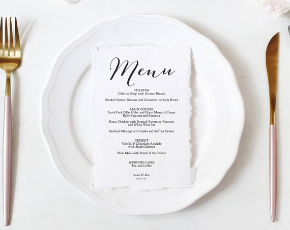 "Menu Templates in 3 Sizes, Wedding Menu Template Printable Menu Template, 3 Sizes, ""Sweet Bomb"", Corjl Template, FREE Demo"