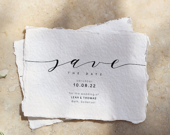 "Save the Date Cards, Printable Templates, Wedding Save the Dates in A6, 5x3.5"", 5.5x4"" & 5x7"", ""Wedding"", Corjl Template, FREE Demo"
