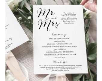 Fan Wedding Program instant download printable template. Paddle fan wedding program 5x7. Sweet Bomb. Corjl FREE Demo