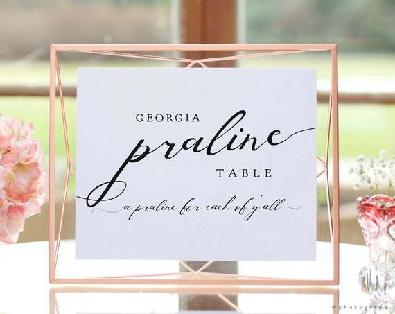 """Lucy - Georgia Praline Table Printable Sign, A Praline for each of y'all, Printable Signs, 8x10"""""""