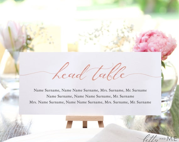 LucyRose - Seating Card Templates, Make your own Rose Gold EFFECT Seating Plans using these Printable Templates, Corjl Template, FREE Demo