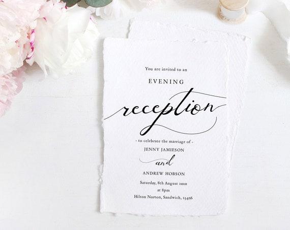 Lucy - Wedding Reception Invitation, Evening Reception Invite Template Download, DIY Printable Invitations, Corjl FREE Demo