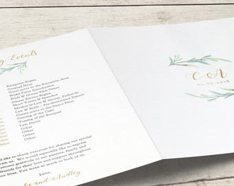 greenery wedding menu template printable bar menu reception etsy
