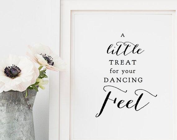 "Little Treat for your Dancing Feet Sign, 8x10"" printable wedding sign, ""Sweet Bomb"", Download and Print"