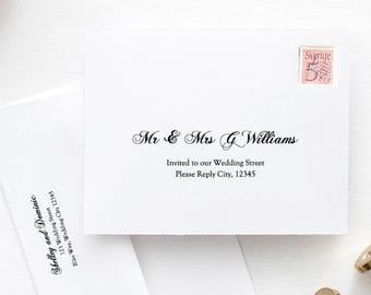 printable wedding envelope template 5x7 front back design etsy