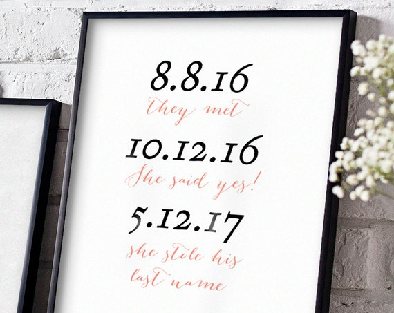 She said yes, she stole his last name sign template printable wedding sign, Sweet Bomb. Sizes 8x10, 8.5x11 and A4 (8.27x11.69)