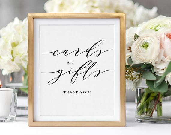 "Wedding Cards and Gifts Sign, Wedding Signage 5x7"" and 8x10"", Wedding Sign printable wedding sign, ""Wedding"", Download and Print"