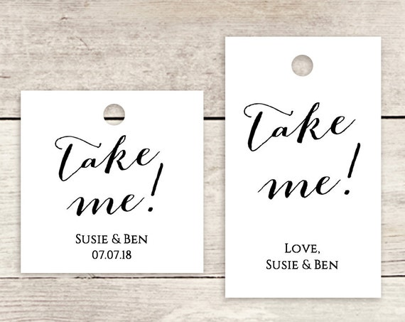"""Take me favour tags 1.5x2.5"""" & 1.75"""" square printable template, printable tags, square and rectangular, 'Sweet Bomb' Edit in WORD or PAGES"""