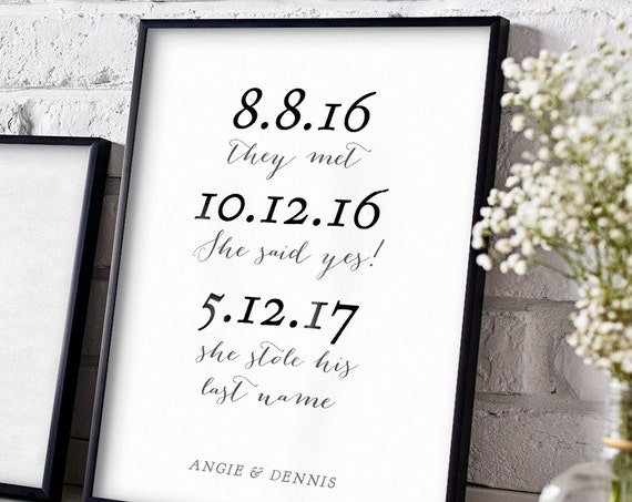 She stole his last name sign template printable wedding sign, Sweet Bomb. Sizes 8x10, 8.5x11 and A4 (A4 is for UK, Europe, Australia etc)