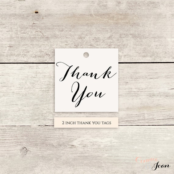 "Thank You Tags 2x2"" square printable template Thank You printable tags - Instant Download, Any colours 'Sweet Bomb' Edit in WORD or PAGES"