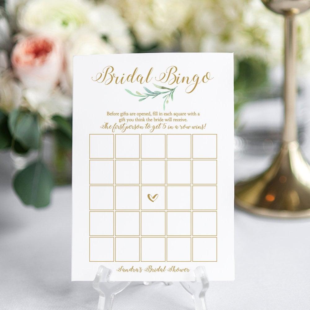 bridal bingo game printable bridal shower bridal bingo