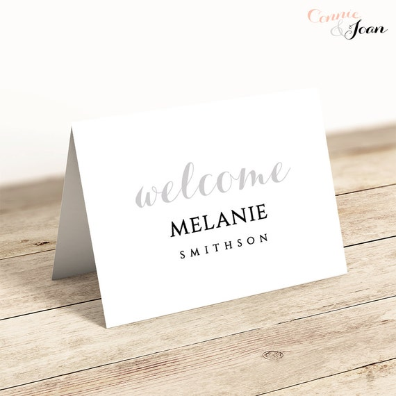 "Name Place Card Printable Template, Name Cards, instant download 3.5x2.5"" Byron, Edit in WORD or PAGES"