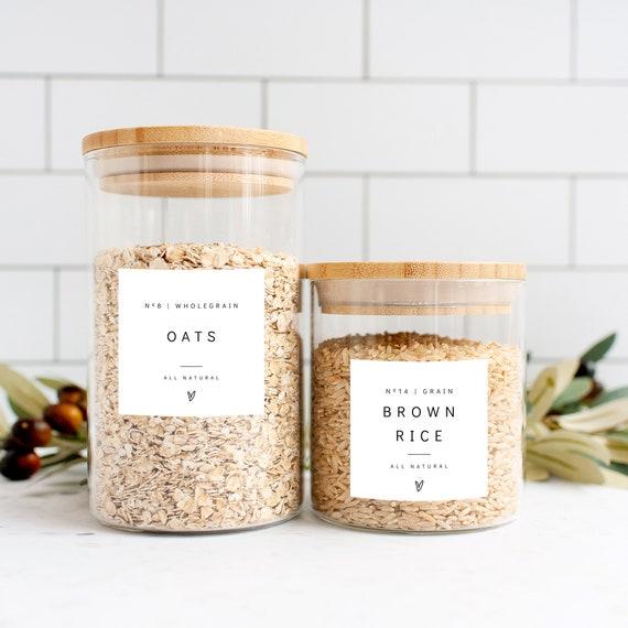 Pantry Labels Template, Modern Minimalist Kitchen Pantry Labels & Stickers, DIY Jar Label, Corjl Template FREE Demo | 86