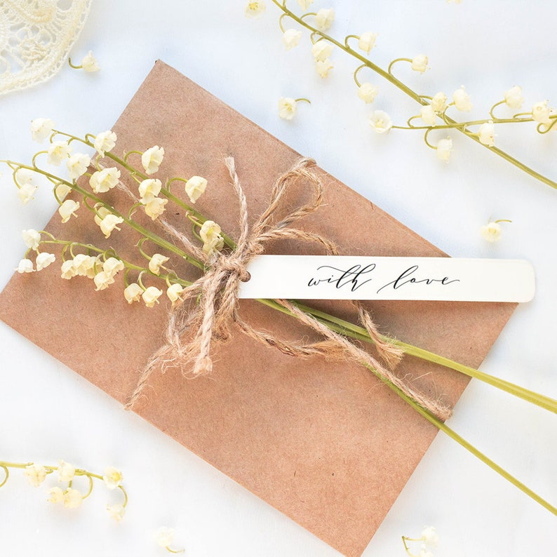 With Love Tags 4.5x0.75 Printable Invitation tags image 0