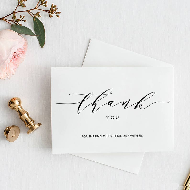 Thank You Card Printable Template Folded thank you card type image 0