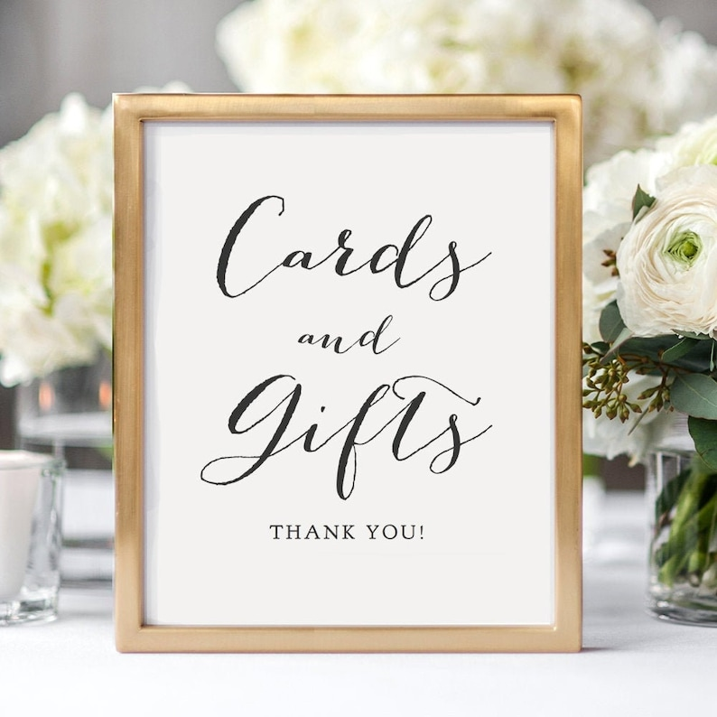Cards and Gifts sign Cards and Gifts printable sign wedding image 0