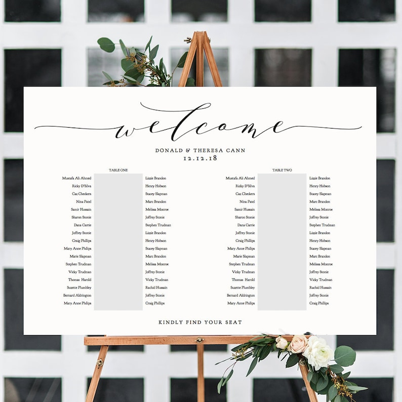 2 Banquet Table Seating Plan Template 2 Long Tables image 0
