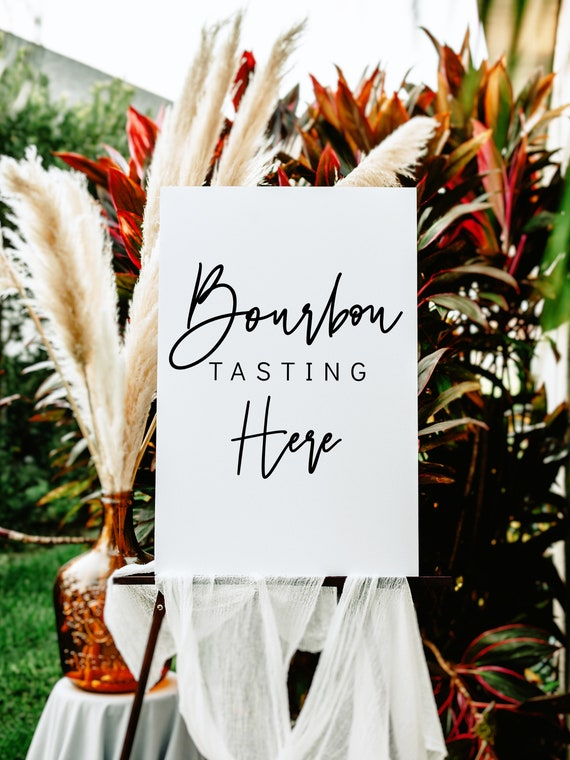 Bourbon Tasting Sign, Printable Bourbon Tasting Sign, Whiskey Tasting Sign, 5 Sizes , Corjl Template, FREE Demo | 88