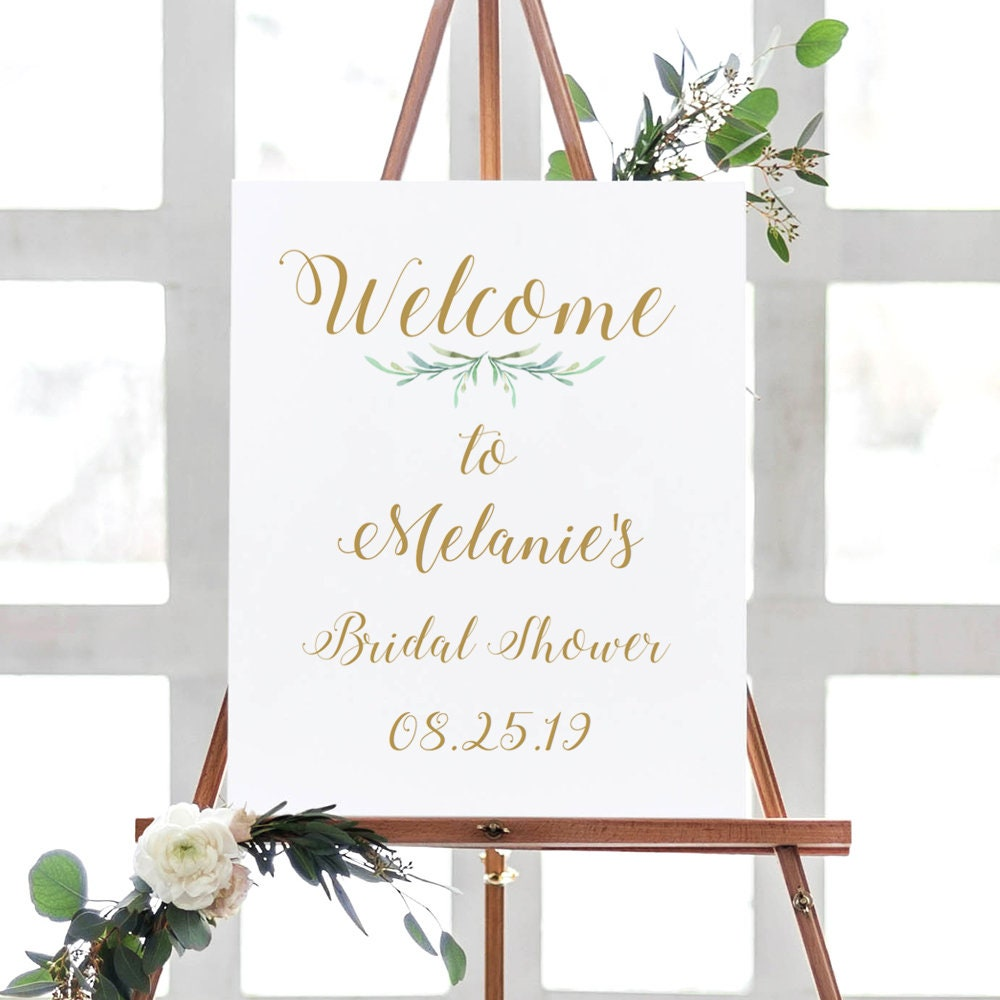 It is an image of Printable Bridal Shower Signs regarding welcome