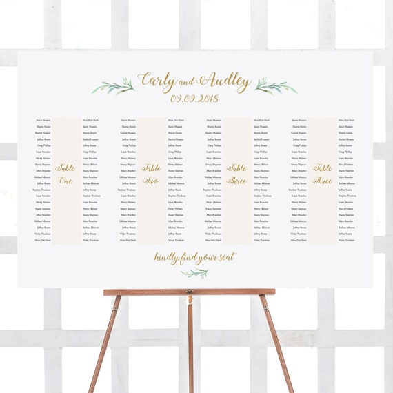 banquet table seating plan 4 long tables printable banquet etsy