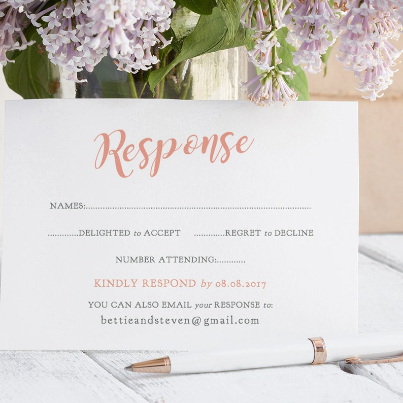 coral wedding name place cards printable template folded