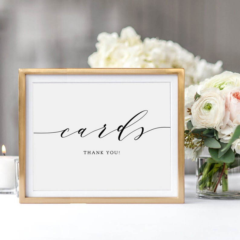 Wedding Cards Sign Printable Wedding Signage 5x7 and image 0