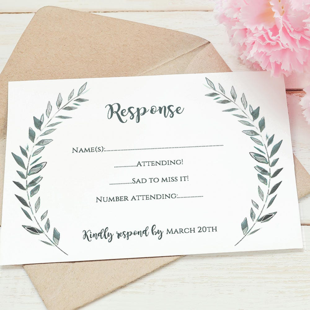 It is a graphic of Peaceful Free Printable Rsvp Cards