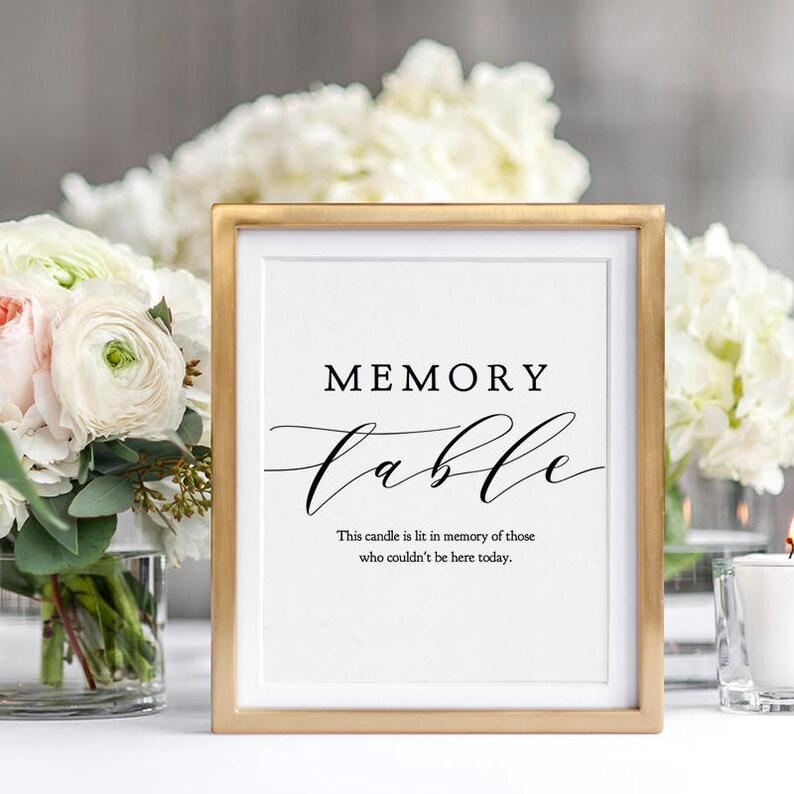 Custom Table Sign Printable Custom Wedding Table Sign image 0
