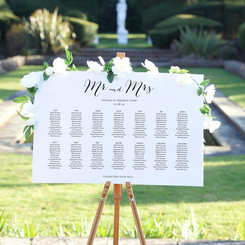 Wedding Seating Chart Template Download Seating Plan image 0