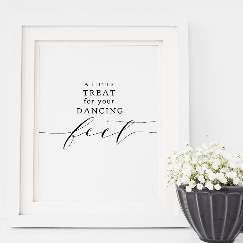 A Little Treat for your Dancing Feet Sign Flip Flop Printable image 0