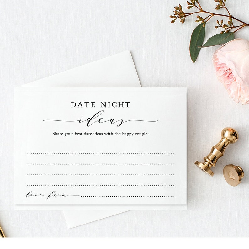 Date Night Ideas Sign and Cards Printable Date Night Ideas image 0