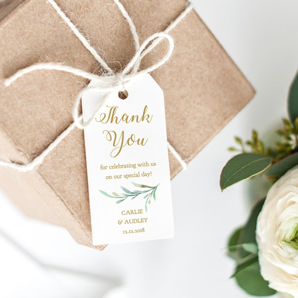 Thank You Tag 2x4 Wedding Favor, Wedding Thank You Tags, Gift Tags ...