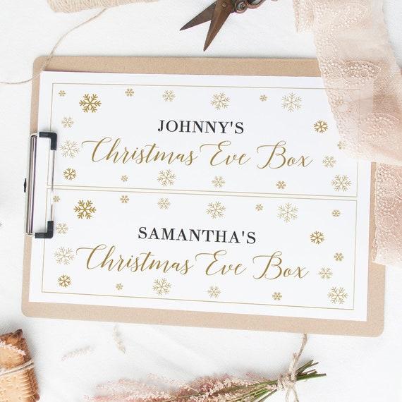 Christmas Eve Box Label 4 Sizes Of Diy Printable Xmas Eve Box Etsy