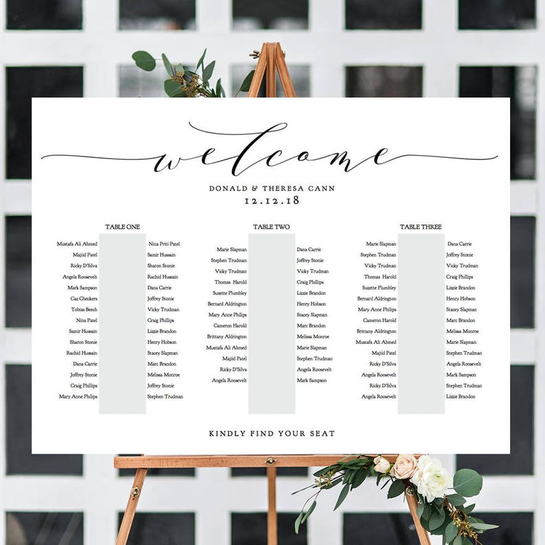 Banquet Seating Chart 3 Long Tables Banquet Table Plan image 0