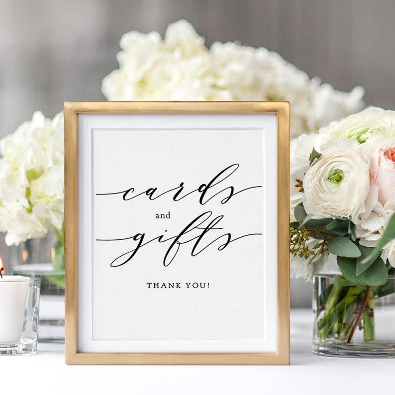 Wedding Cards and Gifts Sign Wedding Signage 5x7 and image 0