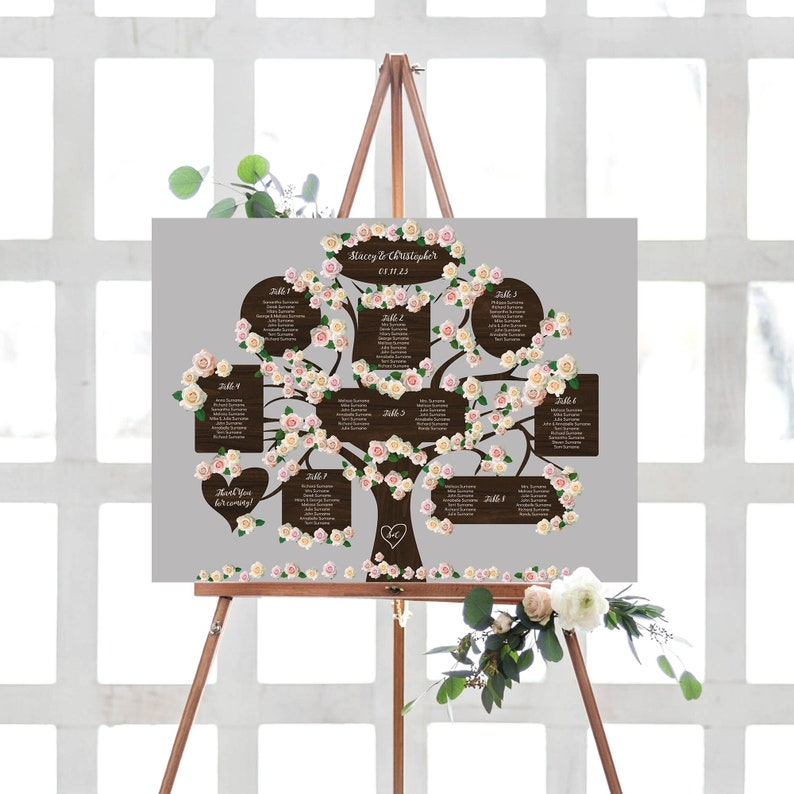 Tree Table Seating Plan Template up to 20 tables image 0