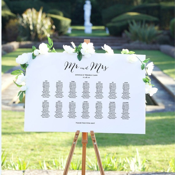 "Seating Plan Template, Wedding Seating Chart, ""Sweet Bomb"" 4 Sizes, Corjl Template, FREE Demo"