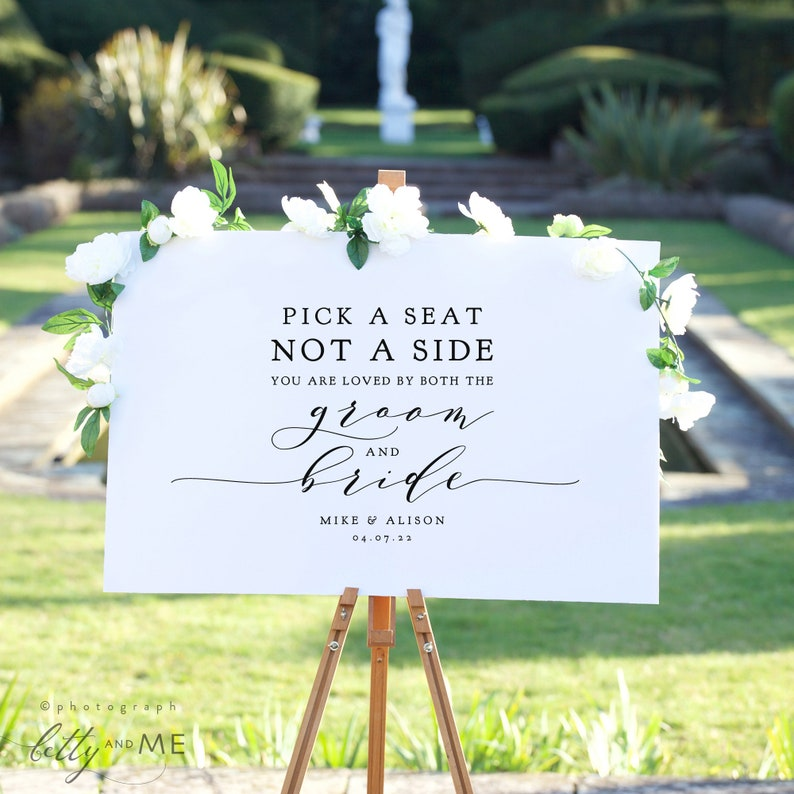 Pick a Seat Not a Side You are Loved by Both the Groom and image 0