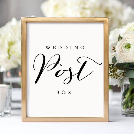 Post Wedding Gifts: Wedding Post Box Printable Sign 8x10 8.5x11 And A4 Wedding