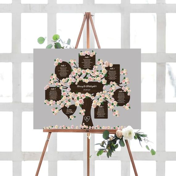 Wedding Tree Table Plan Printable Tree Seating Plan Templates, Up to 20 Tables, Corjl Templates, FREE Demo